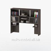 Надстройка для стола, Васко СОЛО-013 Корпус венге, фасад венге/стекло фото