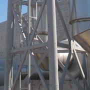 Шумоглушители дымовых газов, установленные на фермовой трубе фото