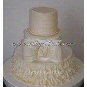 Торт свадебный №0113 код товара: 1-0113 фото