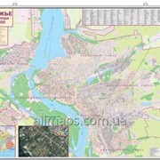 Настенная карта с каждым домом Запорожье135х97 см настенная карта М1:19 000 ламинированная Код товара 880787 фото