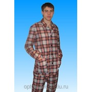 Пижама фланелевая женская (куртка+брюки) фото