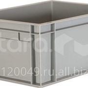 Пластиковый ящик 400х300х175 сплошной, гладкое дно Арт.804