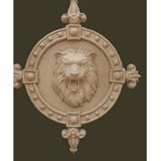 Пано рельефное ПР 01 Лев в кованной рамке фото