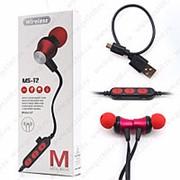 Беспроводные наушники MS-T2 (BLUETOOTH) RED фото