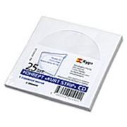 KurtStrip Конверт для CD (125х125 мм), окно d-100мм, 80 гр/м2, декстрин, 25шт в уп, клапан - прямой с замком фото