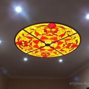Потолочный витраж с подсветкой фото