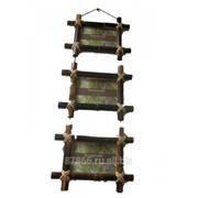Фоторамка из бамбука, тройная в асс. в инд. упак. (3 части 10*15) (уп.32) , арт. 8616 66102