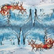 Салфетка для декупажа Новогодний пейзаж фото