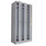 Шкаф для одежды металлический односекционный, двухсекционный, трехсекционный и двустворчатый фото