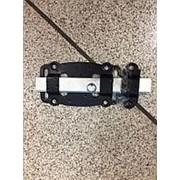 Задвижка дверная ЗД-100-Пл-Оц-53 черная /30/ фото