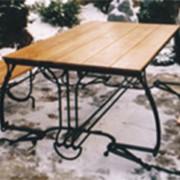Набор садовой кованой мебели фото