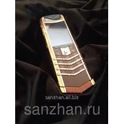 Телефон Vertu Signature S Design Red Gold Brown Alligator exclusive 86960 фото