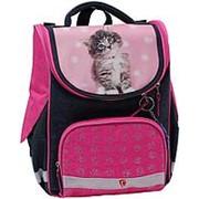 Школьный формованный рюкзак Bagland 'Успех' розовый с синим фото