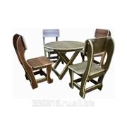 Набор мебели для детей №2 (1 стол раскладной, 4 стула) фото