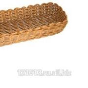 Хлебница плетен.ротанг коричн.прямоуг.26,5*10*6см LQ-NEW фото