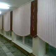 Жалюзи вертикальные -оформление коридора фото