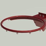 Кольцо баскетбольное амортизационное, порошковое окрашивание БКАм-45016 фото