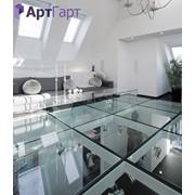 Скляна підлога з гартованого скла для дому
