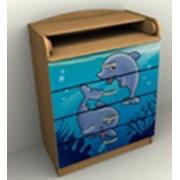 Комод детский КП-6/4 дельфины фото