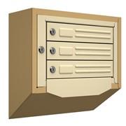 Антивандальный почтовый ящик Кварц-3, бежевый