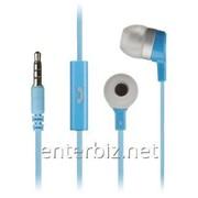 Гарнитура KitSound Entry Mini In-Ear Headphones with Mic Blue (KSMINIBL) фото