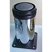 Ножки мебельные цилиндр, хром, регулируемые, 50х100мм фото
