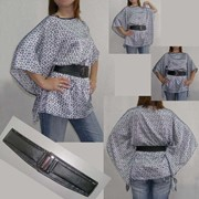 Атласная блузка - туника фото