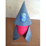 """Шапка для сауни """"Будьонівка УКРОП""""V3 (синя) фото"""