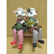 Парочка овечек 2шт.Сборщики урожая- с висячими ножками, арт. 8801 фото