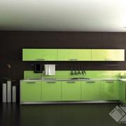 Кухня Ария фисташковая, кухни из пластика фото