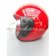 Шлем Jiekai, красный открытый, прозрачное стекло, размер S 55-56, Китай фото