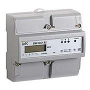Счетчик электрический IEK Счетчик эл. энергии трехфазный STAR 301/1 R2-10(100) Э, на DIN-рейку фото