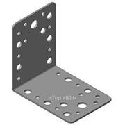 Кронштейн крепёжный равносторонний 90х90х65х2мм из оцинкованной стали, арт. 2002 фото