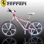 Велосипед Ferrari бело-красный, 21 скрость фото