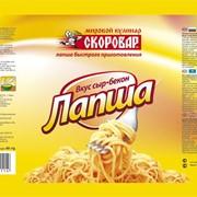Лапша б\п со вкусом сыр-бекона 50гр.ТМ Скоровар фото