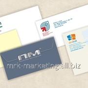 Полноцветная печать логотипов на конвертах фото
