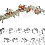 Автоматическая линия для заклейки и обвязки коробки серии XFK-3 фото
