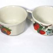 Чашка чайная Глория с рисунком Вишня и Яблоко ДП 18, 230 мл фото