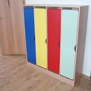 Шкафчик для раздевания с цветными дверками фото