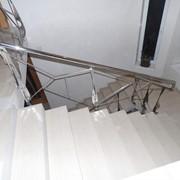 Перила для лестницы из нержавеющей стали фото