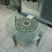 Стол стеклянный фото
