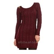 Платье теплое вязаное, артикул ШП-020 фото