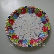 Тарелка бумажная одноразовая фото