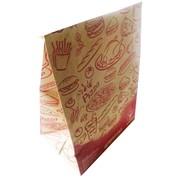 Крафт пакет на вынос для пищевых продуктов фото