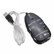 USB адаптер-переходник для подключения электрогитары фото