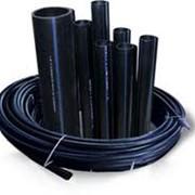 Трубы пластмассовые чёрные диам.100 без муфт фото