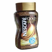 Кофе «Nescafe gold», растворимый, кристаллы 190 гр. (стекло)