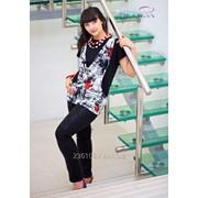 Блуза 1549 Чёрный цвет фото