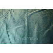Бархат хлопковый, сине - зеленый фото