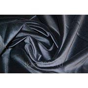 Бархат хлопковый, черно - синий фото